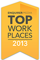 2013 Top Workplaces Award