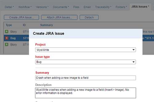 Out-of-the-box JIRA integration