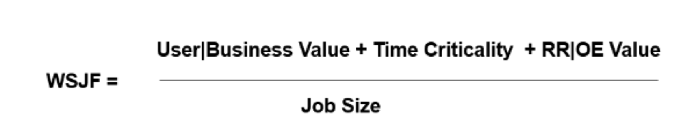 WSJF calculation